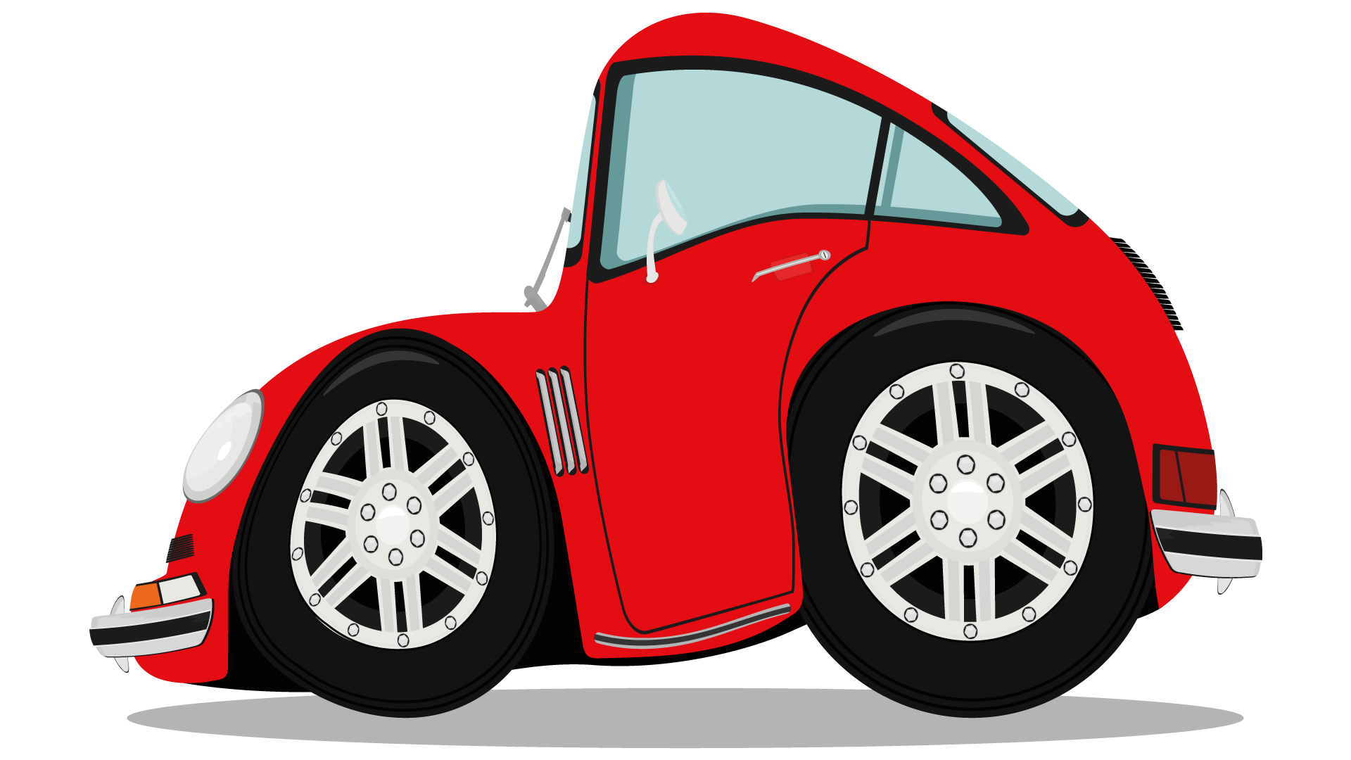röd kompaktbil från shutterstock