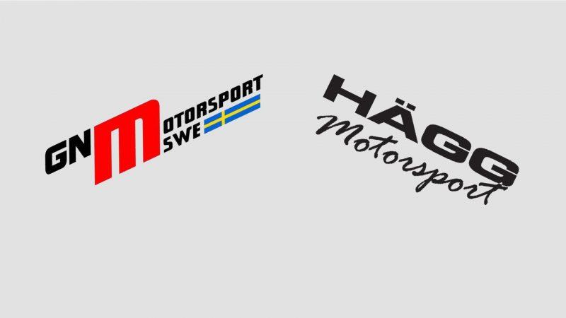 logotyper gn motorsport och hägg motorsport