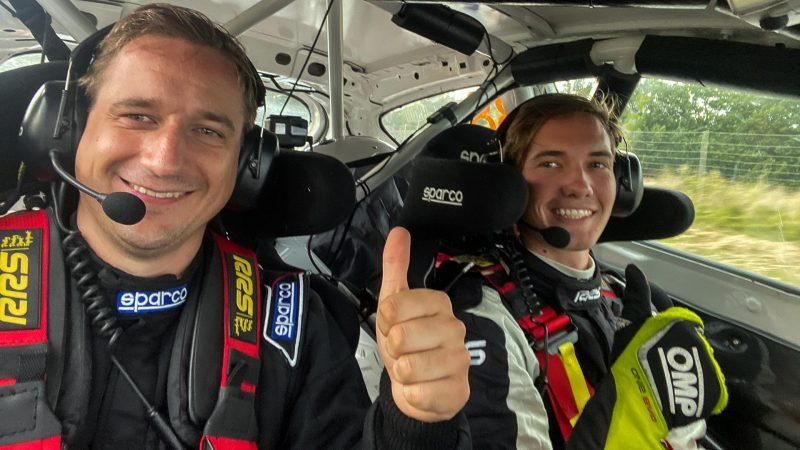 east sweden rally i linköping lukas hägg med kartläsare daniel borgqvist