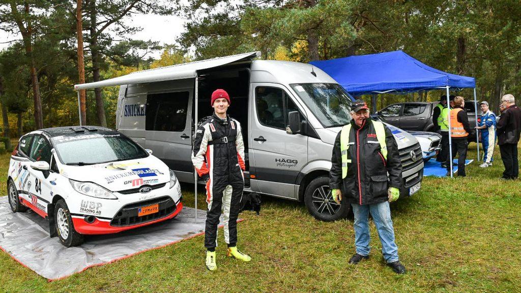 Lukas Hägg med farfar Leif Hägg i Falsterbo Rallysprint 2020-10-24