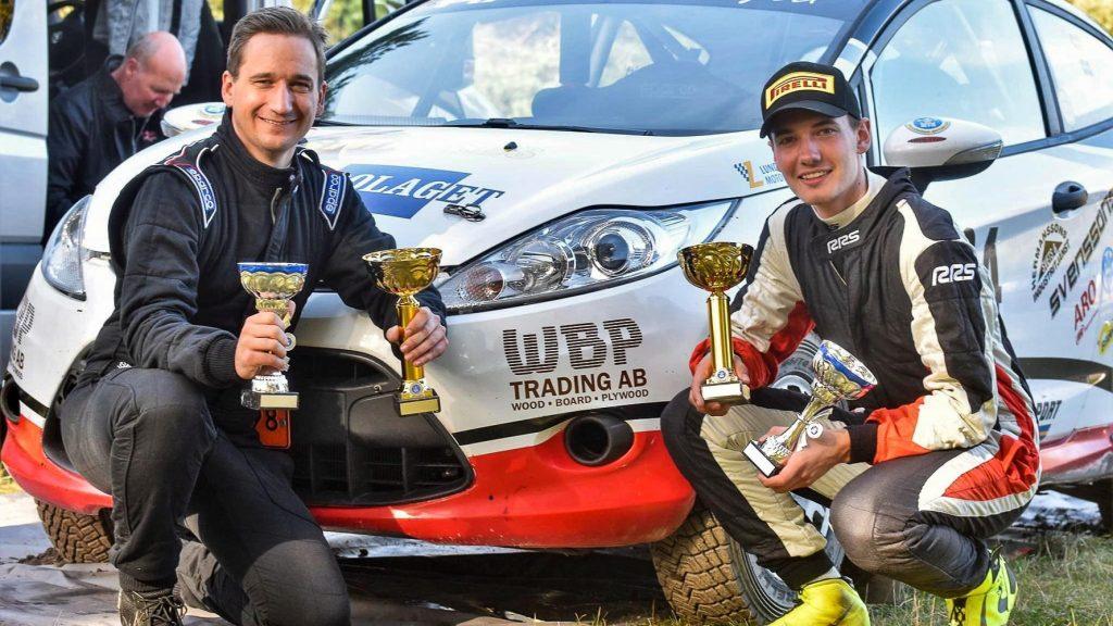 Lukas Hägg med kartläsare Daniel Borgqvist vann sin klass i Falsterbo Rallysprint 2020-10-24