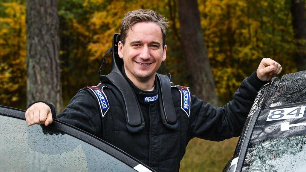 Lukas Häggs kartläsare Daniel Borgqvist Olofströms MK i falsterbo rallysprint 2020-10-24