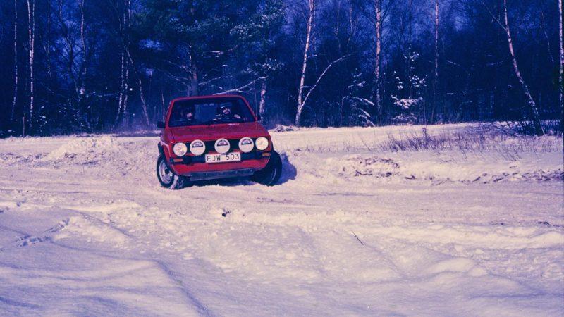 curt och mårten fredagardh i falsterbo rallysprint